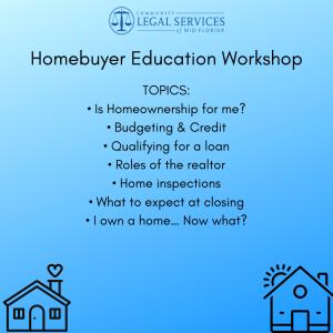 Homebuyer Education Workshop flyer